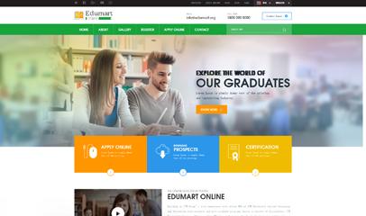 绿色培训机构网站HTML5模板
