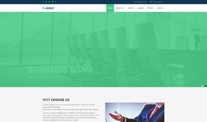 扁平公司官网HTML5模板