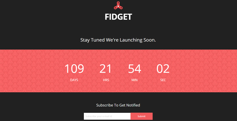 Fidget网站上线倒计时响应式模板