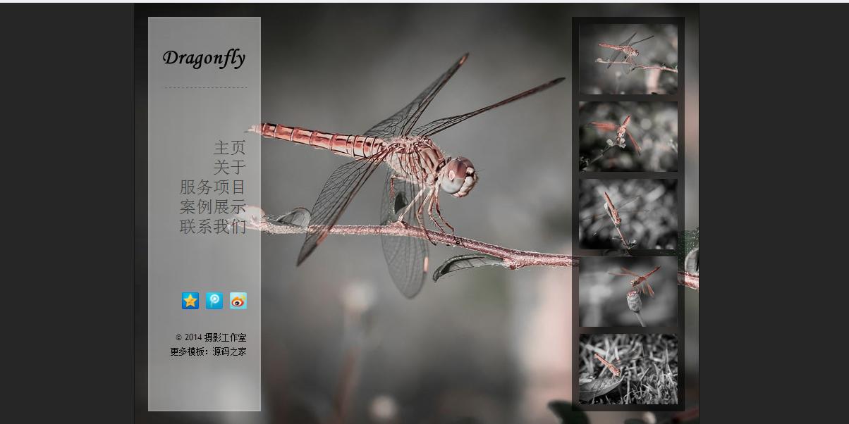 HTML5摄影工作室个人网站模板