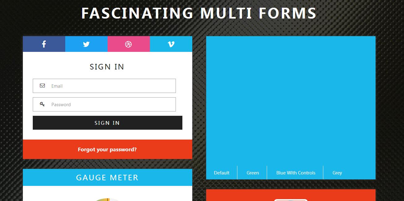 用户信息动态组件响应式网页模板