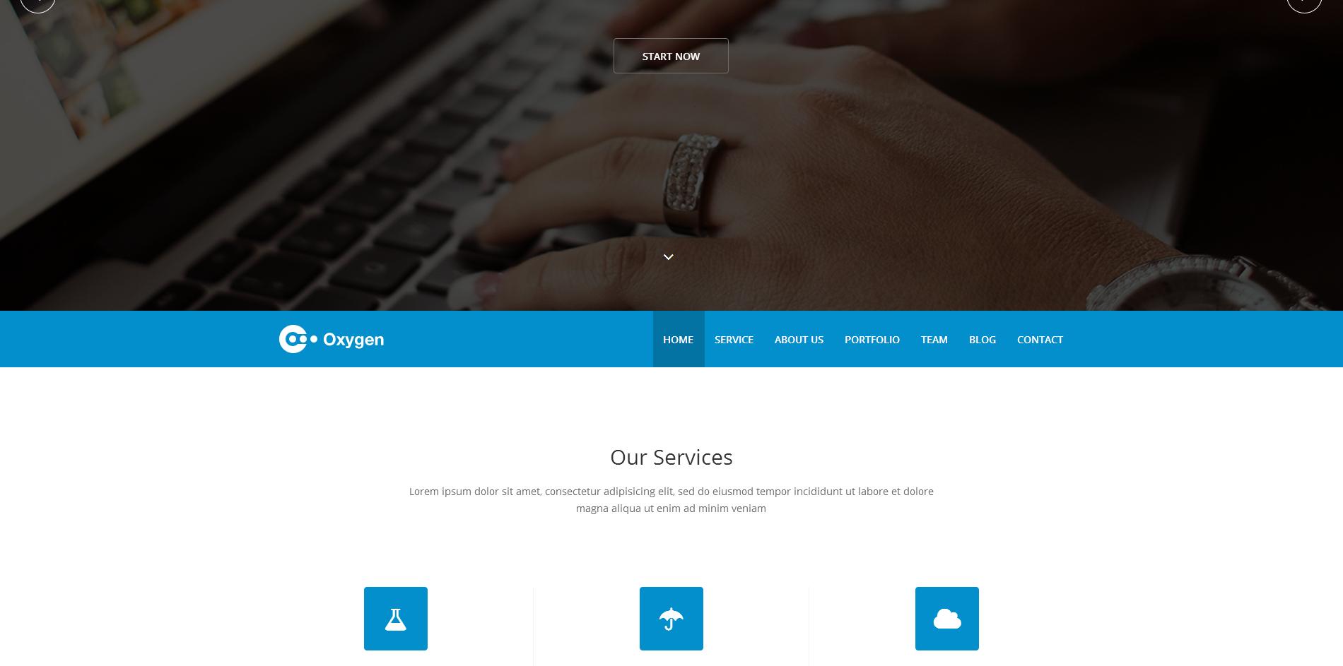 全屏自适应幻灯大气形象展示企业网站模板