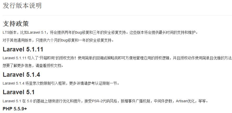 Laravel 5.1参考手册 中文CHM版
