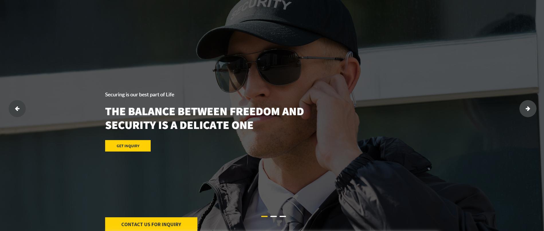 宽屏大气的保镖安保公司网站模板