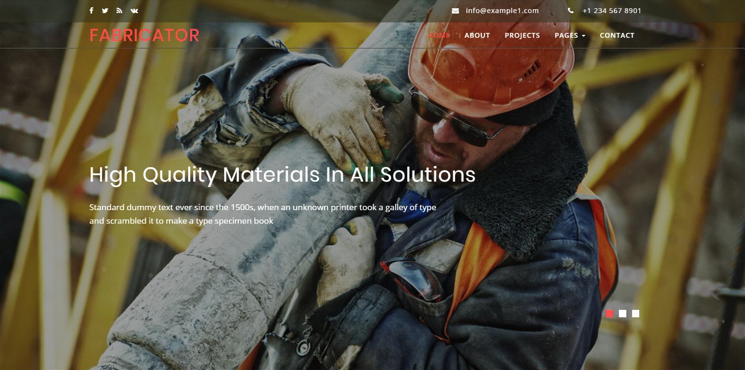 大气工业行业的网站模板