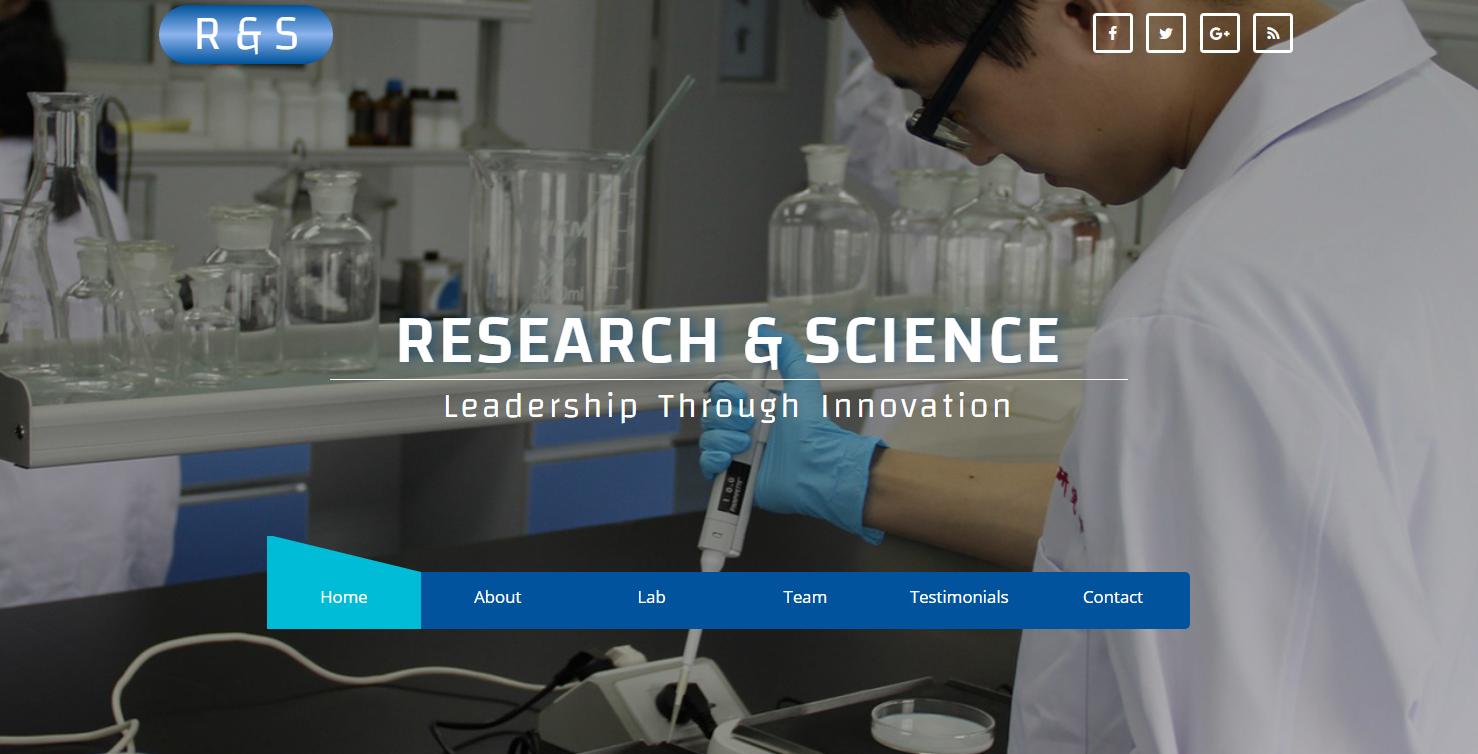蓝色化学研究实验室的模板
