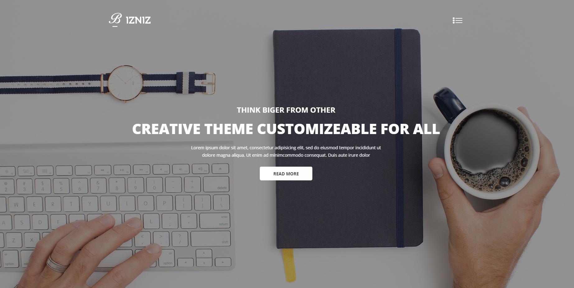 企业创意业务网站模板
