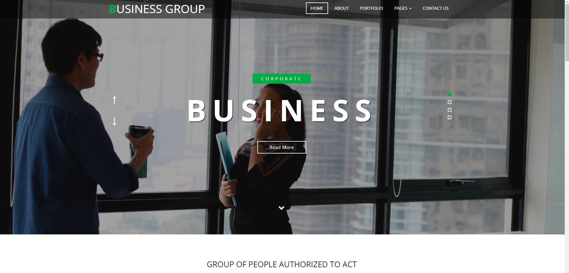 银行业务往来网站模板