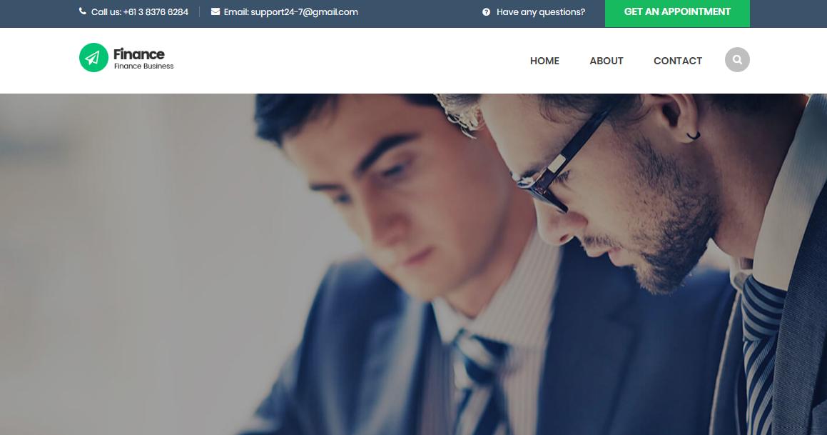 金融会计行业的网站模板