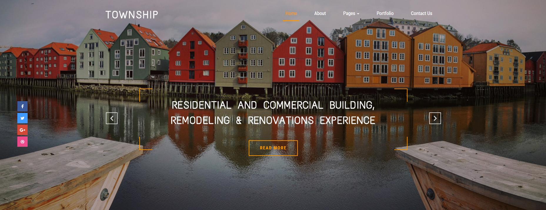 旅游开发公司的网站模板