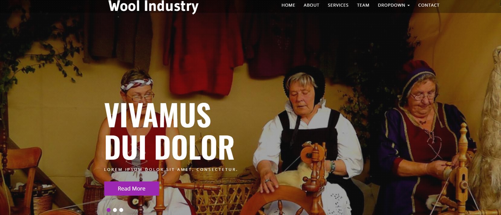 毛衣加工企业的网站模板