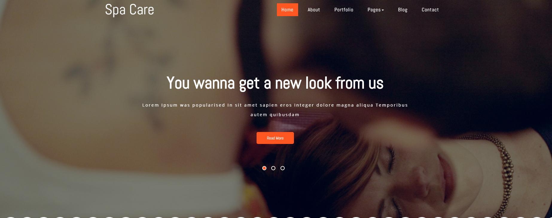 女性美容美甲的网站模板