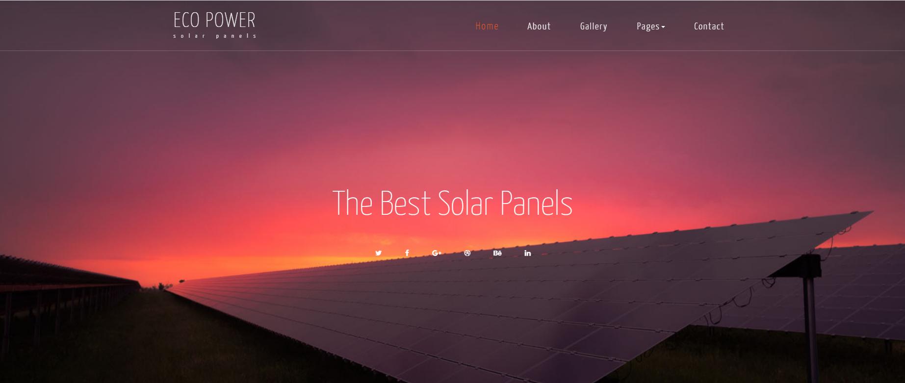 太阳能电池板企业HTML的模板