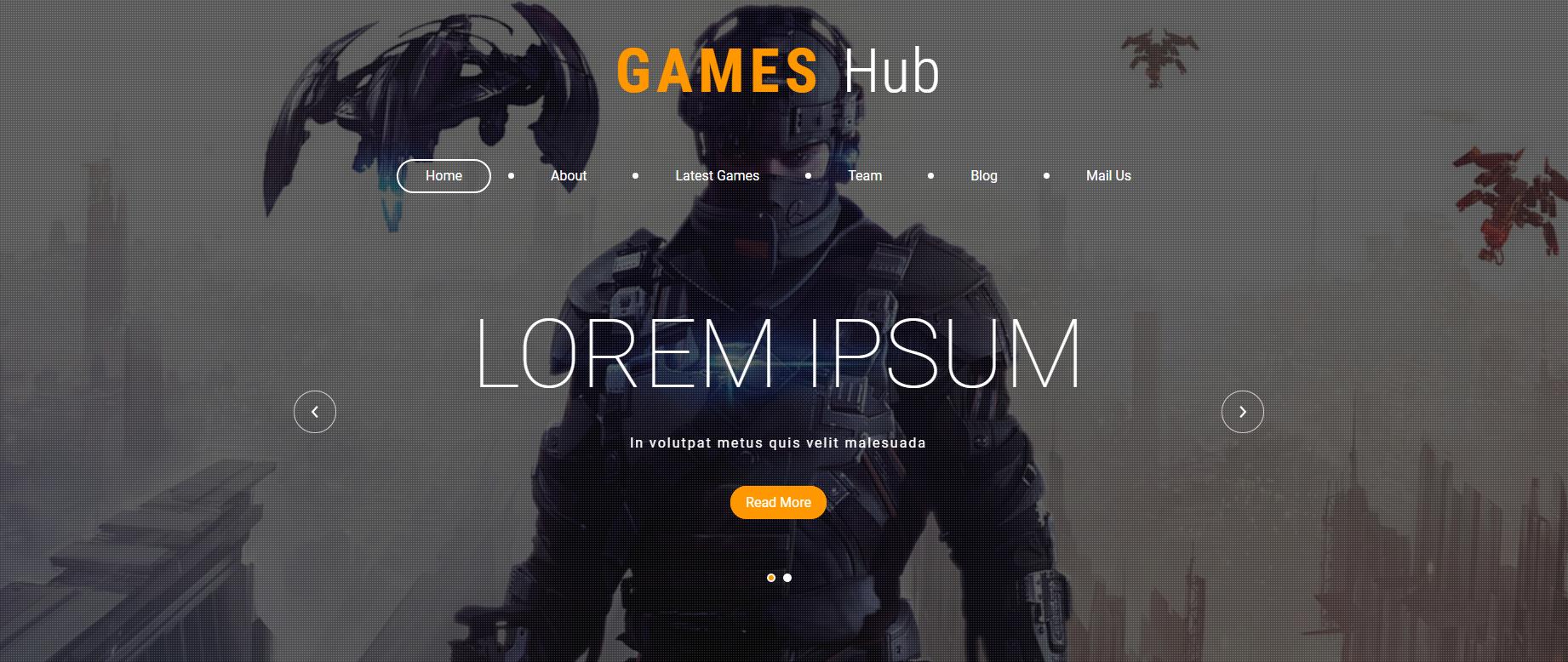 网页游戏开发公司的网站模板