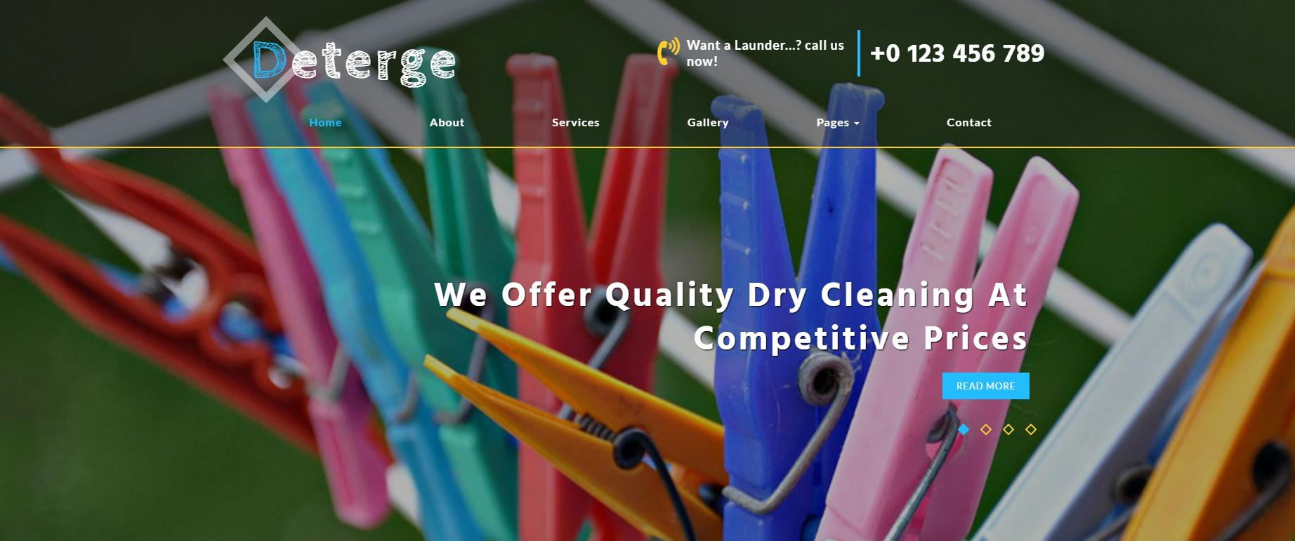 洗衣房设备公司的网站模板
