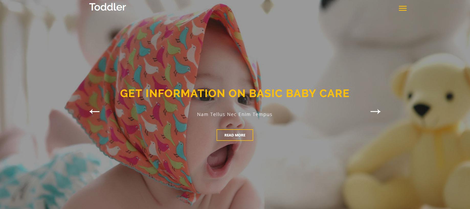 婴儿用品店的网站模板