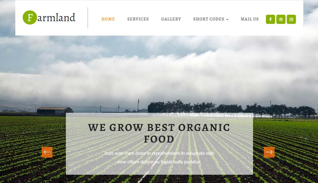 绿色板式蔬菜种植网站模板