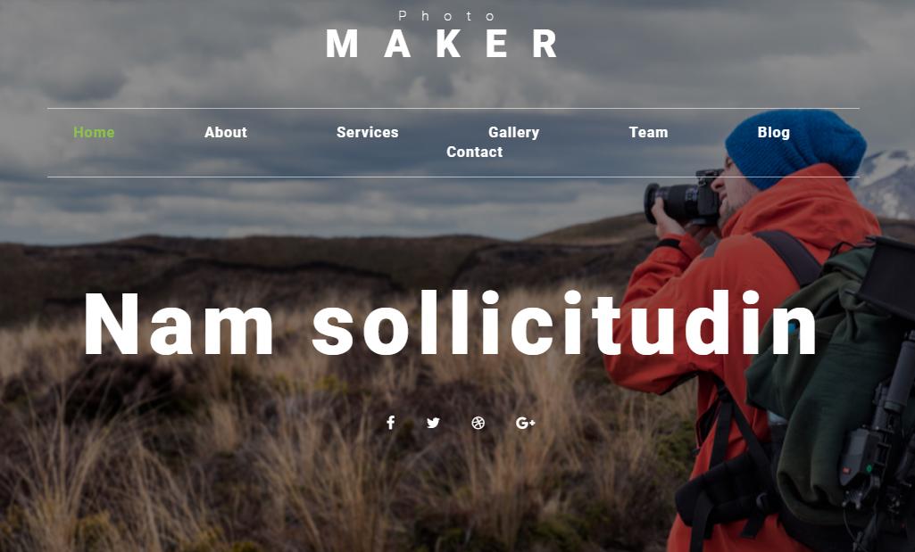 照片制作商网站模板