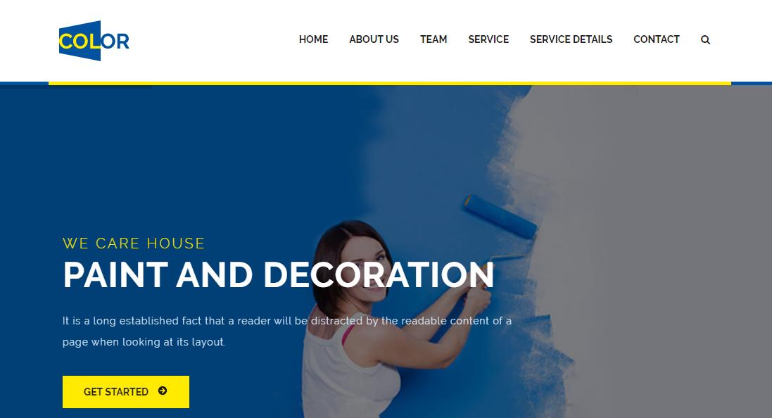 彩色墙壁粉刷公司网站模板