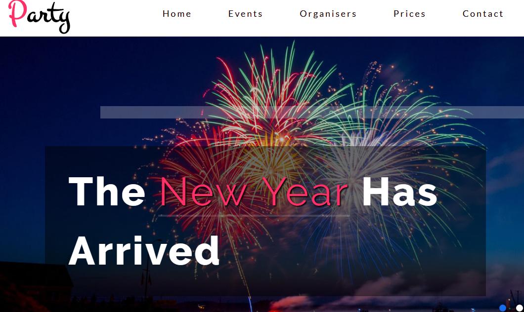 彩色欢庆新年专题网页
