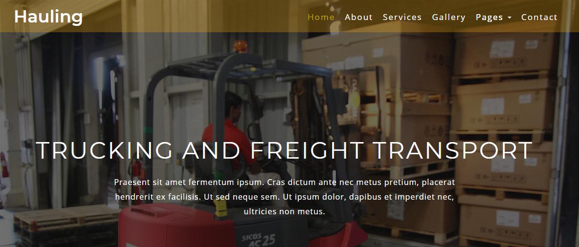 红色工业搬运叉车企业网站模板