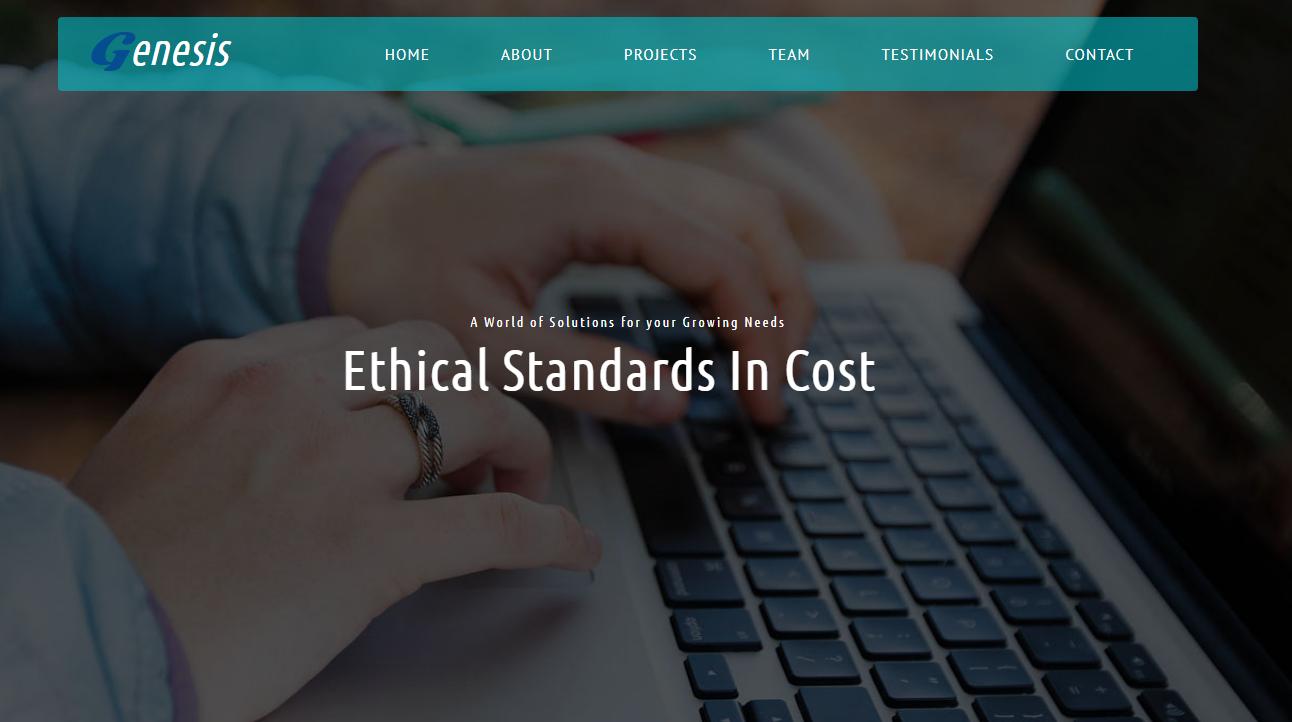 绿色网站建设公司HTML5模板