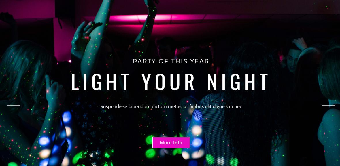 紫色演唱会宣传网页