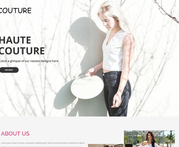 秀气巴黎春夏时装秀网站模板