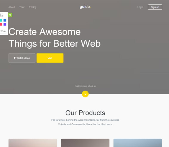支持修改样式多变颜色网站模板