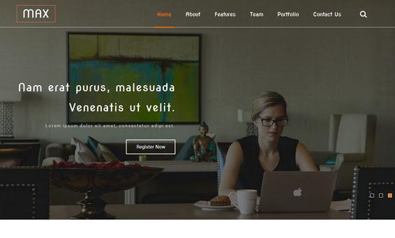 干净HTML5大气单页商业网站模板