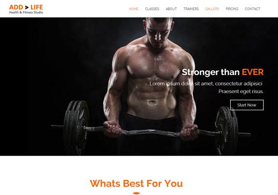 肌肉猛男健身俱乐部网站模板