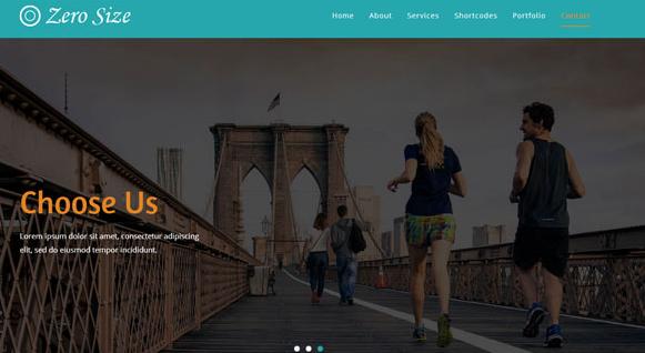 健康蓝色瑜伽运动响应式网站模板