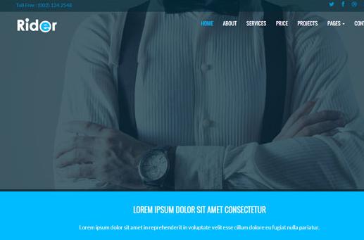 蓝色商务版的企业全站模板