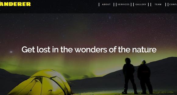露营的户外旅游网页模板