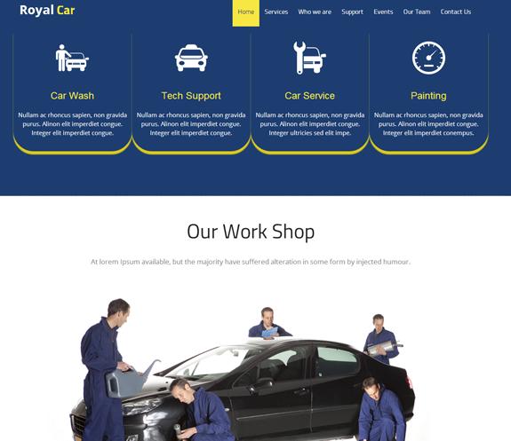 汽车维修的服务公司网站模板