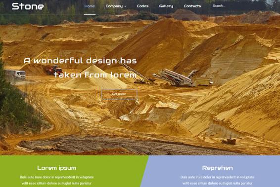 推土施工队土方HTML5网站模板