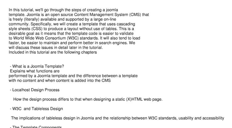 Joomla的模板制作