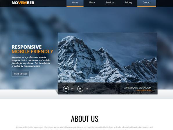 高原雪山风格网站模板