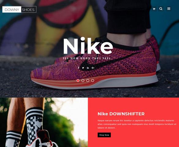 耐克运动鞋彩色专题网站模板