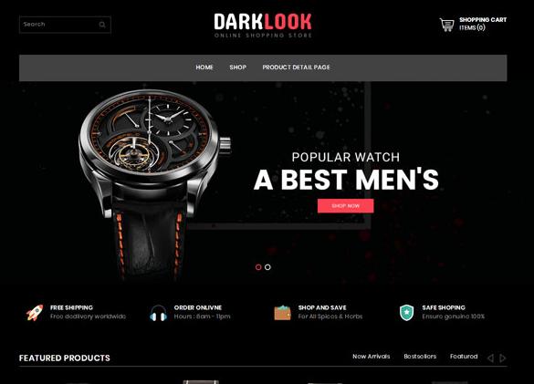 奢侈腕表品牌网站模板