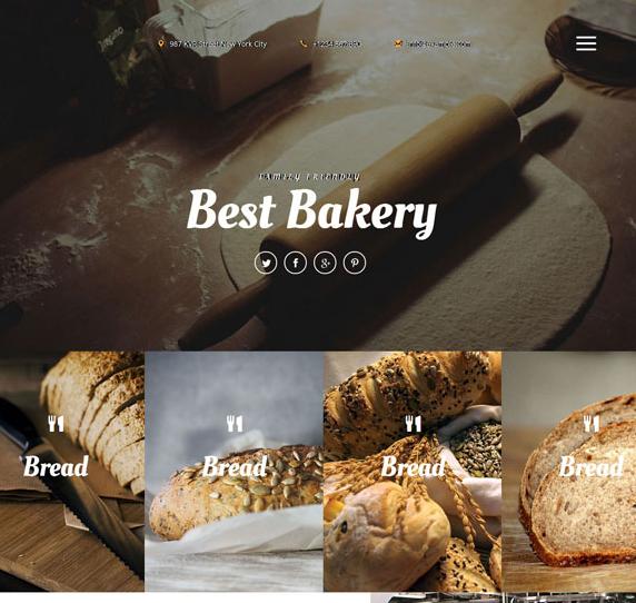 法式面包蛋糕制作企业网站模板