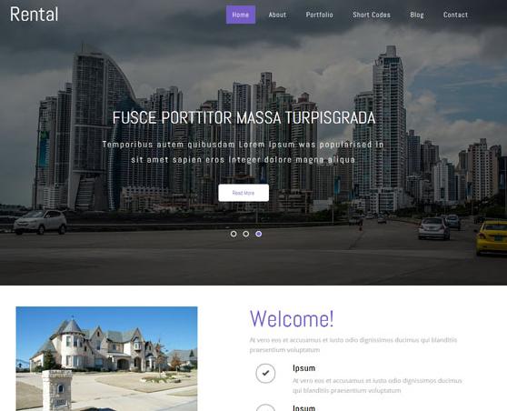 房地产租赁企业网站模板