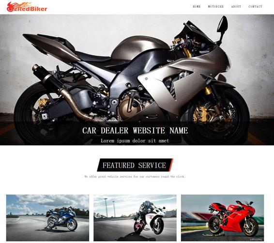 漂亮大气的黑灰色摩托车企业模板