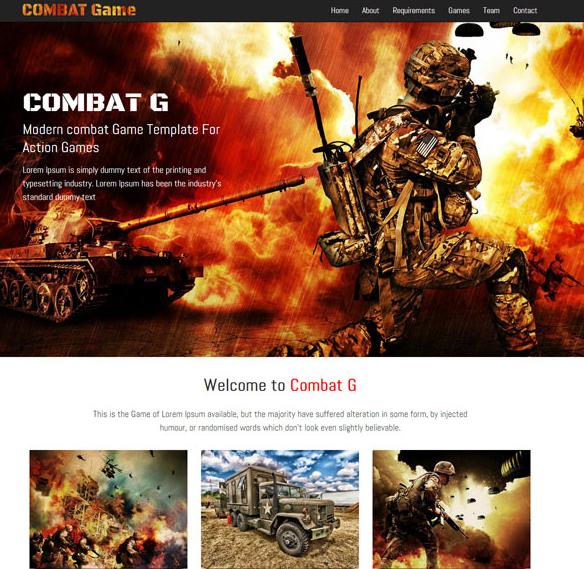 战争网游公司网站模板