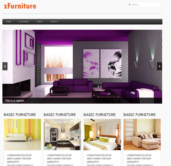 紫色调网上家具购物网站模板