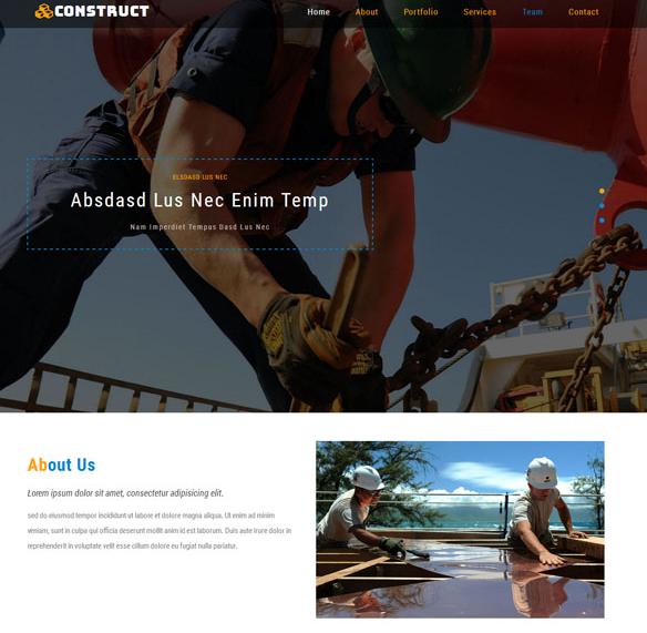 户外施工集团企业网站模板