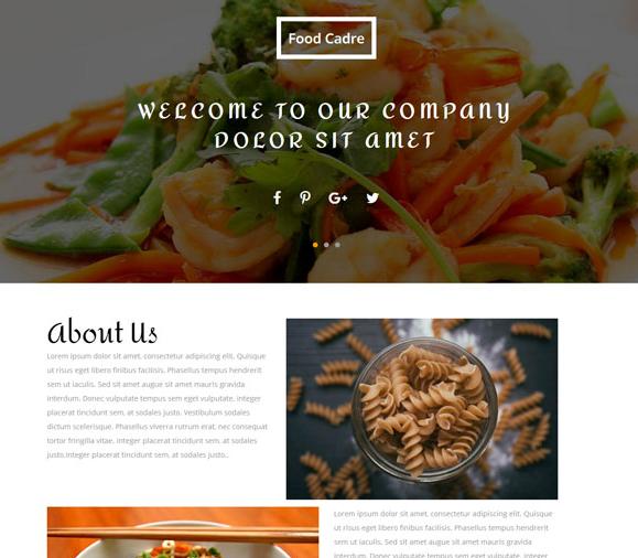 宽屏大气海鲜自助美食网站模板