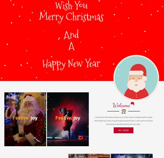 圣诞专题网站模板2