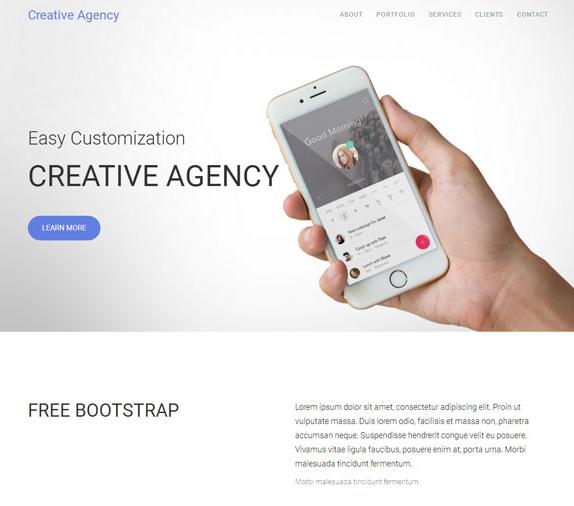 移动互联网APP创业公司网站模板