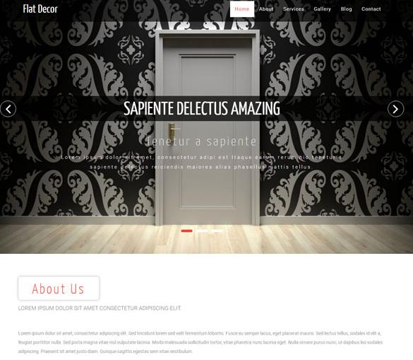 装修房门企业网站模板